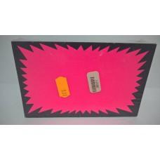 100 Fluorescent Fluorescent 9X Pink Cards