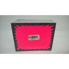 100 Fluorescent Pink Flash Cards 7X9Cm